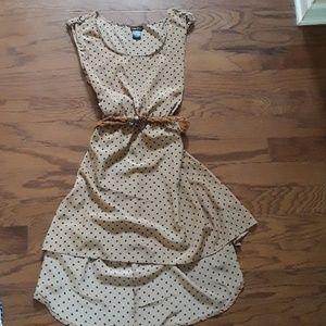 NOWT silky polka dot belted dress